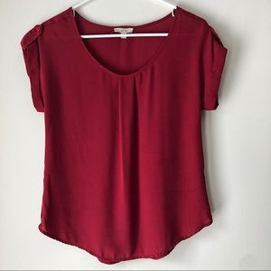 Anthropologie MINE Burgundy Red Blouse Small